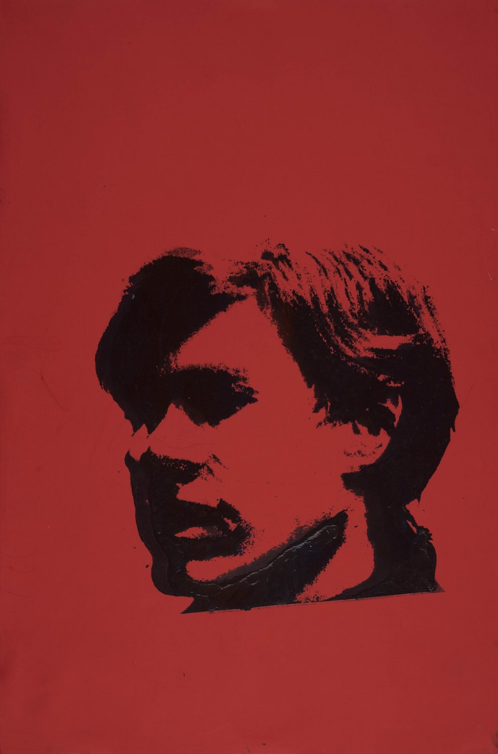 Self-Portrait (red),  1967. Silkscreen ink on colored board. 45,1 x 29,8 cm.