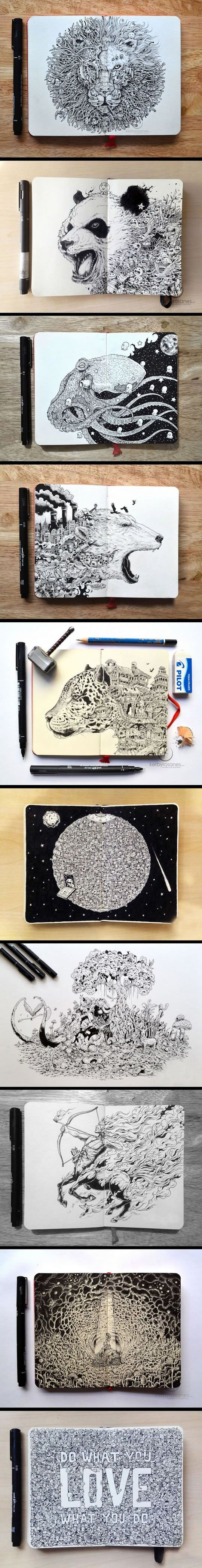 http://themetapicture.com/hyper-detailed-drawings/