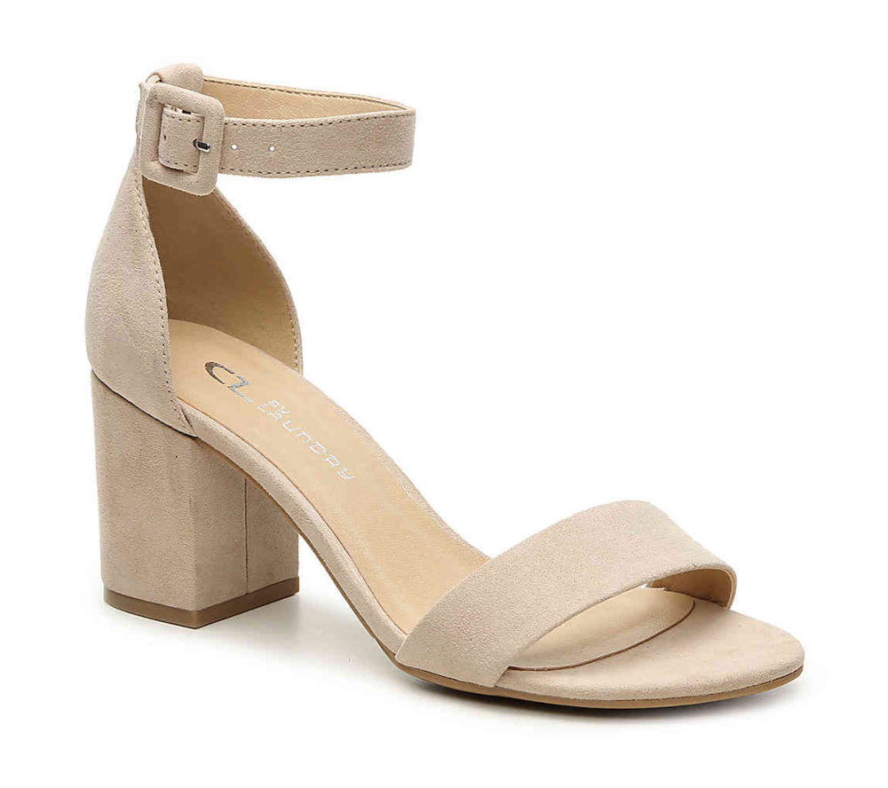 Block Heels  -  Block heels, especially those with an ankle strap, are extremely popular. Block heels can be worn all day and all night. From a casual day to a night out. They are the perfect shoe. Especially in vibrant colors such as yellow.