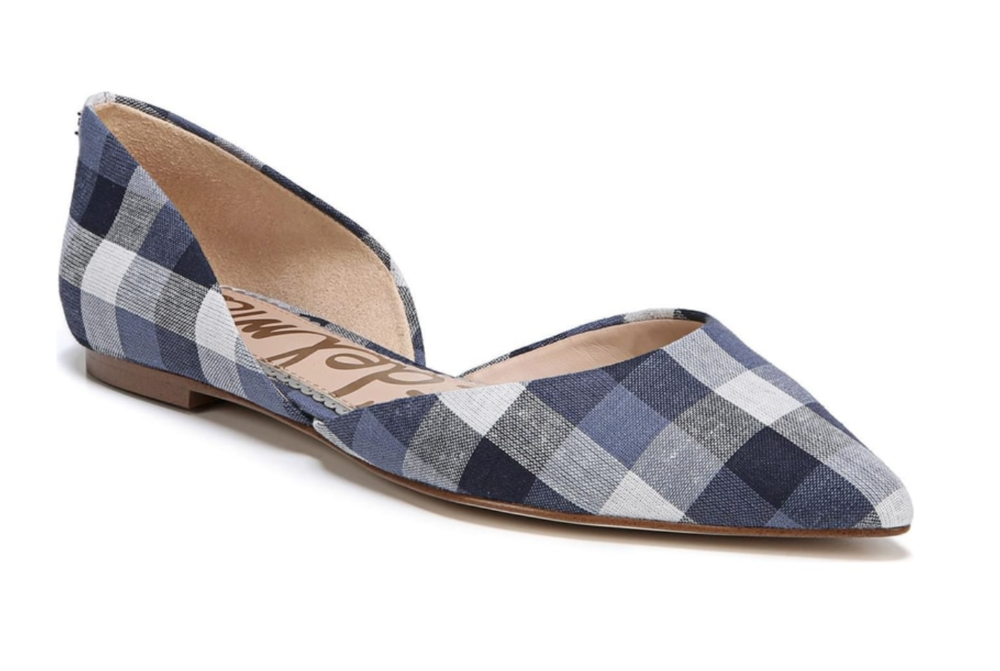 Gingham Print  -  Any shoe with the gingham print is extremely in right now. One particular shoe is the Guess Gingham Wrap Allison Sandle. This shoe has the gingham print but wraps around the ankle for a cute and classy look.
