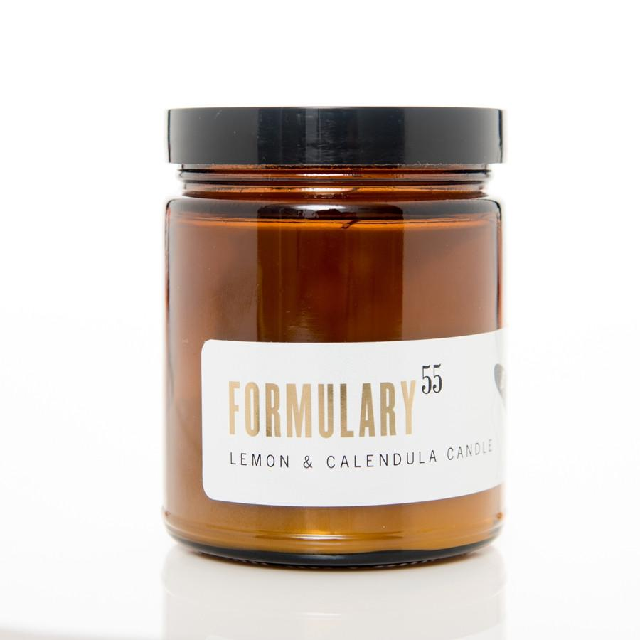 Childhood Memories - Formulary 55 candles are a great candle. This particular candle is herbal with a fresh lemon scent. Many people are reminded of drinking lemon water and even childhood lemonade stands. To purchase this candle visit formulary55.com.