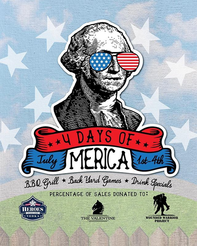 🇱🇷 4 DAYS OF MERICA 🇱🇷 Come kick off your love for independence starting on the first and take advantage of our drink specials for 4 whole days! Don't forget to join us on our rooftop on the 4th of July to enjoy firework views, backyard games, ticketed open bar and a BBQ grill!! We will only be selling 50 tickets for the upper deck and the lower will remain first come first serve! Either way, you better act fast! BUY YOUR TICKETS FROM THE LINK IN OUR BIO #merica #partyintheusa #thevalentinenashville #downtownnashville