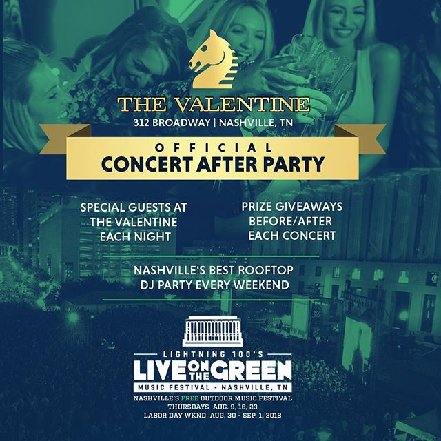 IT'S FINALLY HERE!! Live On The Green starts now and we couldn't be happier to be this years OFFICIAL rooftop after party 🔥 join us after every Live On The Green to be a part of our annual DJ series and surprise appearances. Trust me.. you don't want to miss out. #liveonthegreen #officialafterparty #goesdownintheV