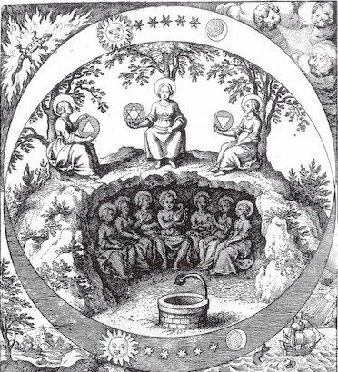 Engraving by Matthaeus Merian, 1625, from  Musaeum Hermeticum .