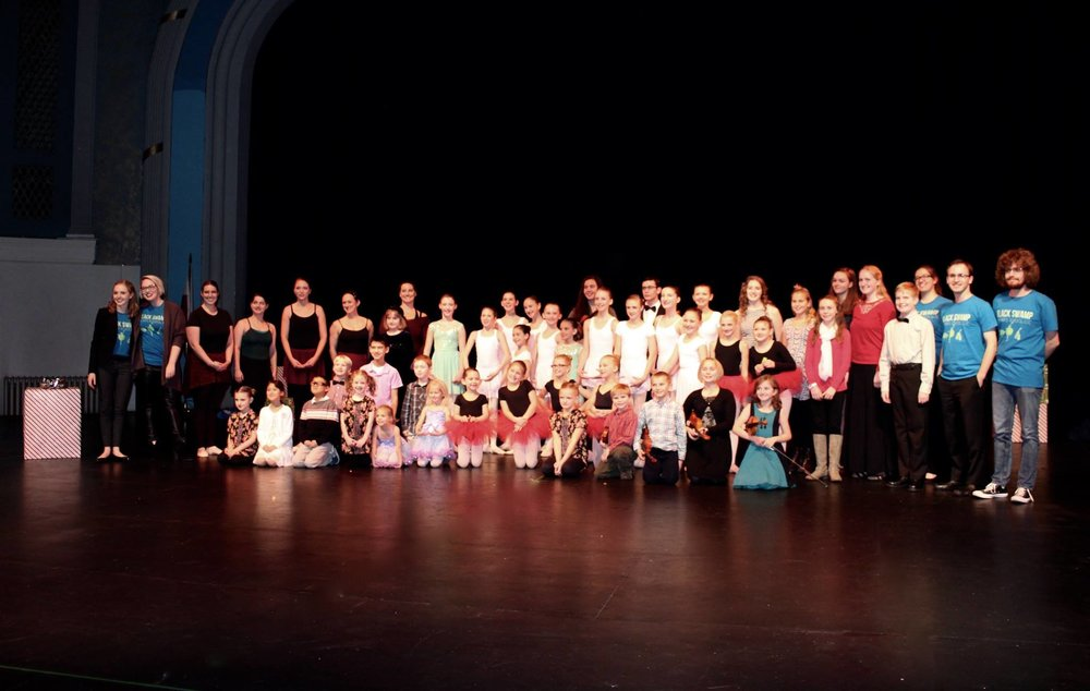 Several of our students and faculty after our 2016 Winter Recital