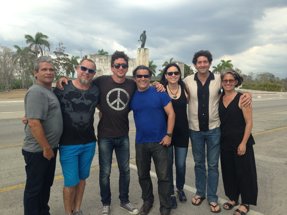 PatchWorks' Marcia and Ken with Todas Contracorriente including Cuban music legends David Blanco and Rochy in Santa Clara, Cuba.