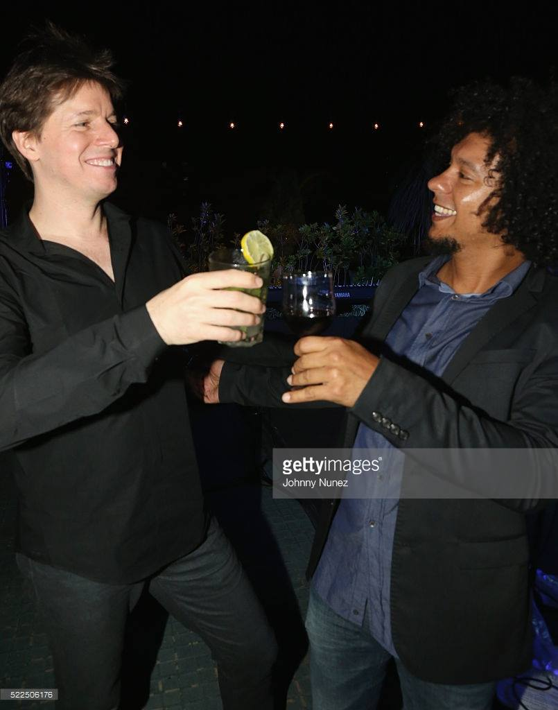 Meanwhile in Havana, Aldo, the pianist brother toasts with violinist Joshua Bell, after performing together in Havana. Bell was part of a U.S. delegation of artists that included Usher, Dave Matthews and Smokey Robinson.