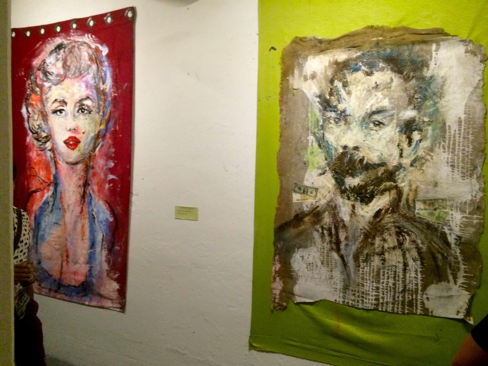 Marilyn Monroe & José Marti grace the same wall in the hip and provocative Fábrica del Arte Cubano in Havana.
