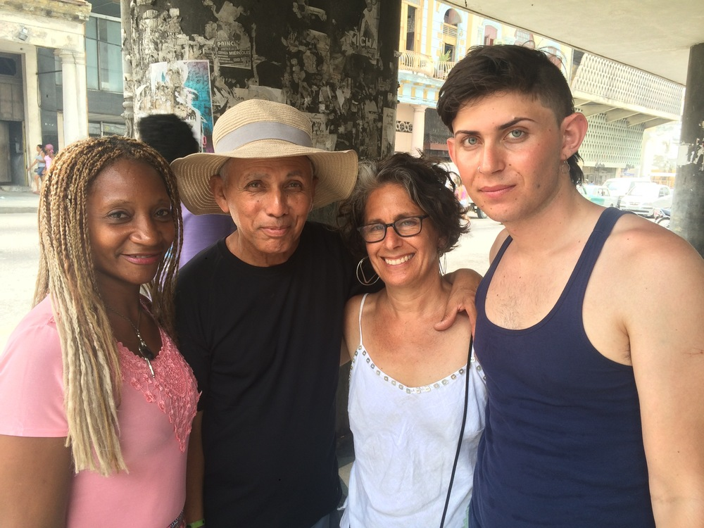 Lovely to see Oso and Orguidia from WHEEL OF LIFE again--this time with our 20-year-old, Mica along, serving as production assistant.