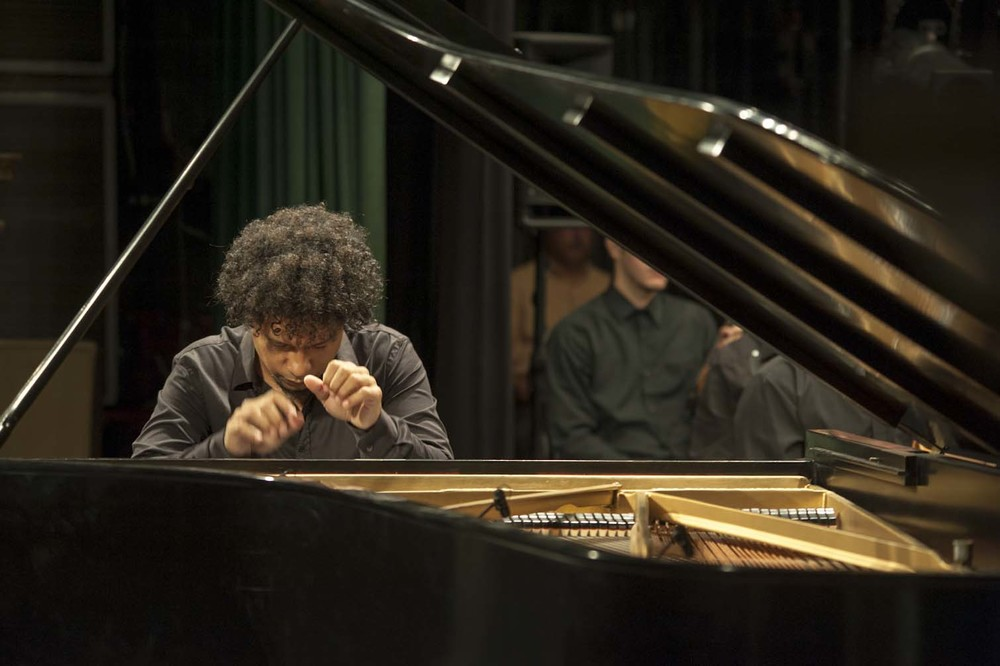 Aldo Lopez Gavilan at work. If you want to hear his remarkable music for yourself, check out : http://bit.ly/UTUBE-Aldo-Epilogo.