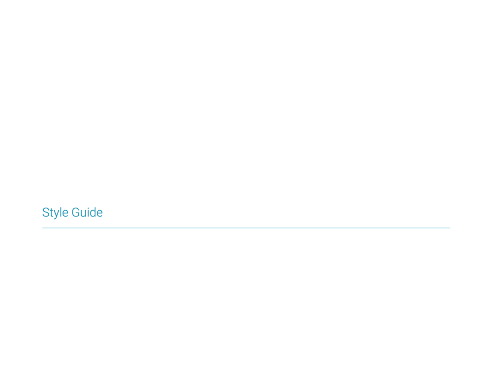 Style guide 1