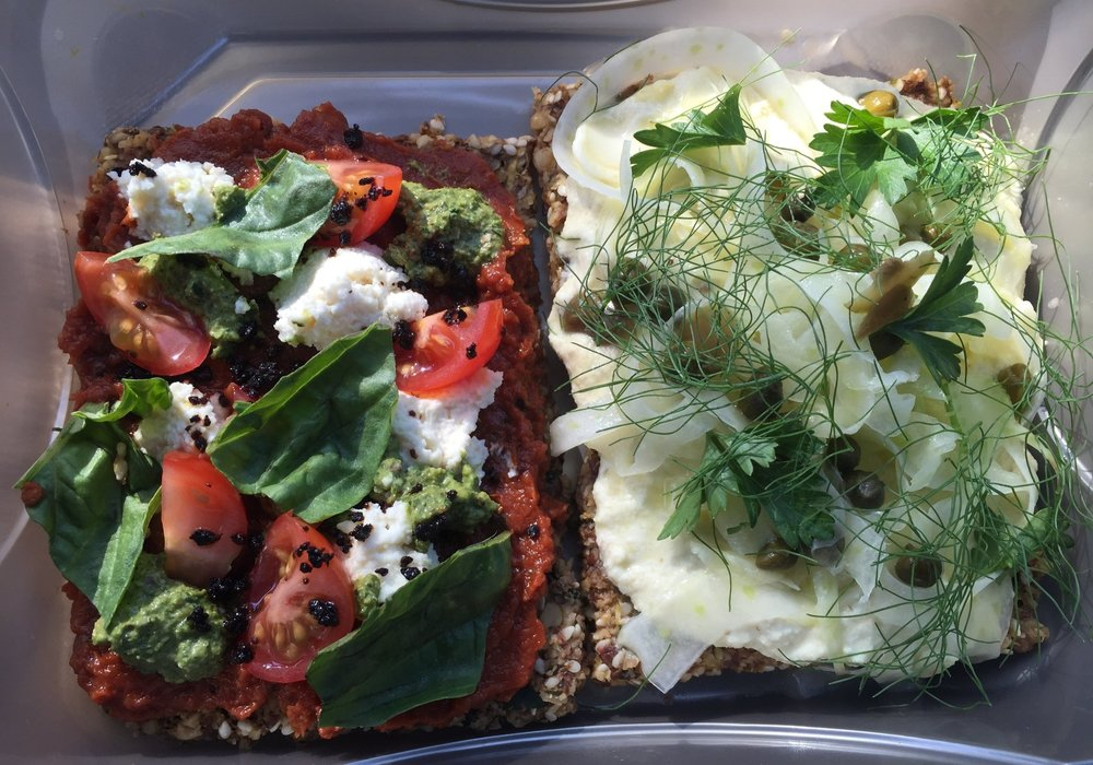 assorted Flat Breads from Make Out in Culver City - Los Angeles, California