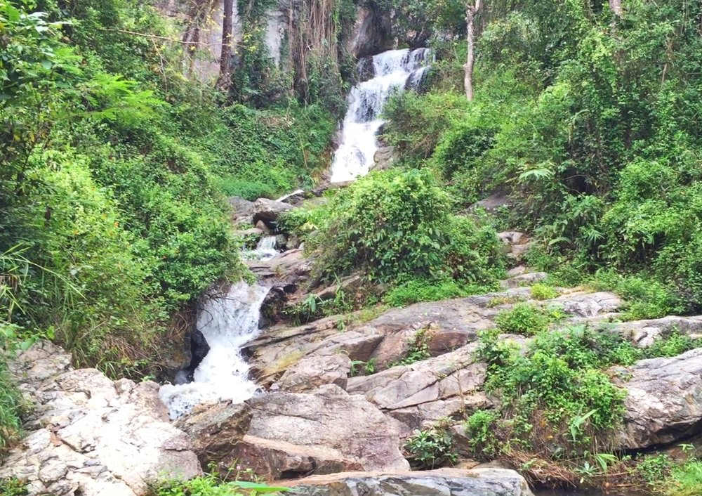 View of easiest waterfall hike in Chiang Mai Thailand, only 2 minutes!