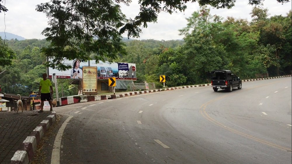 Hiking Up Huay Kaew Road