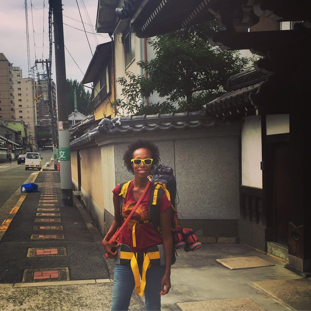 Roman Solo Traveling in Japan Alone. On street of Osaka