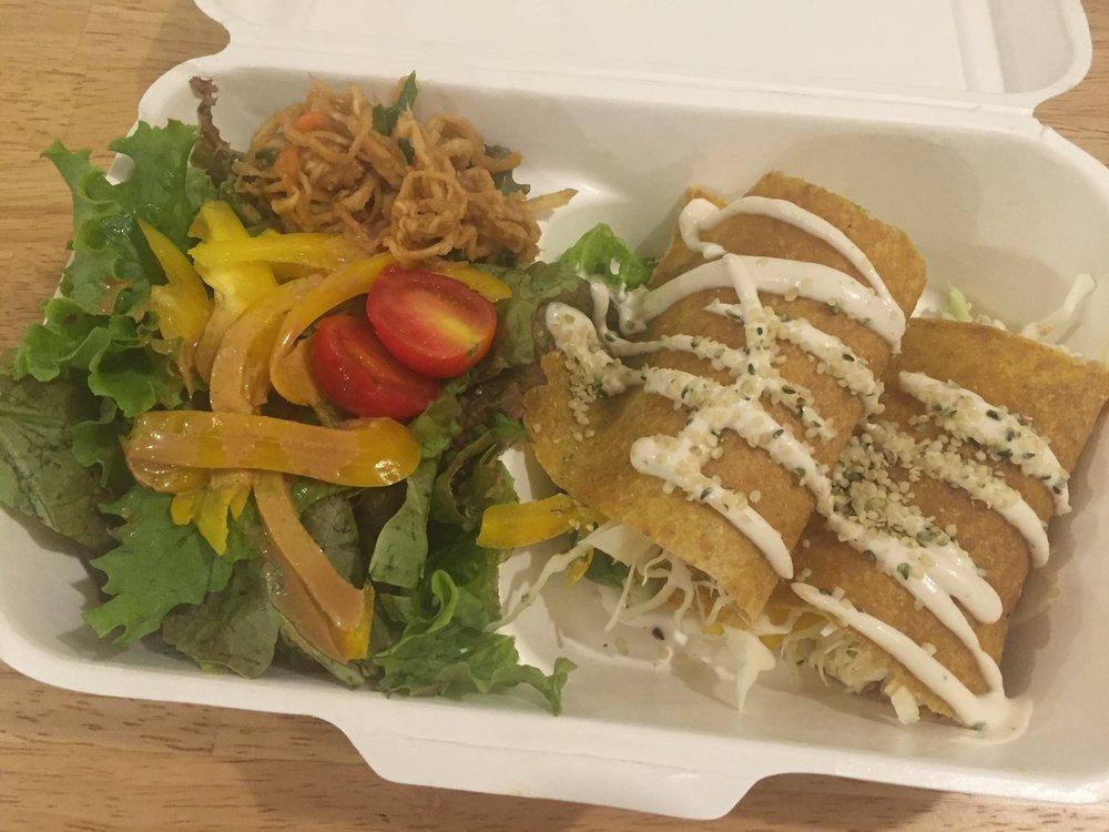 raw, vegan, gluten free plant-based meal in Osaka Japan