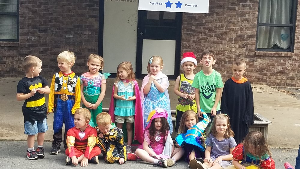 Cabot East Justice Childcare having fun costume dress-up day 3.jpg