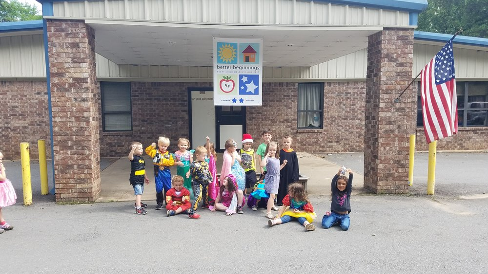 Cabot East Justice Childcare having fun costume dress-up day 2.jpg