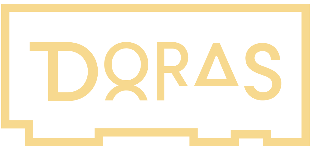 - DORAS [noun] (Irish) - A DoorwayDORAS [verb {passé simple}] (French) - To gild or cover with gold