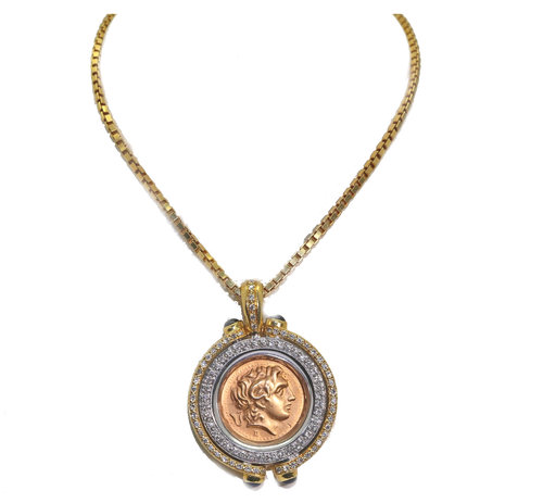 Gorgeous greek coin pendant and chain sku 552 02091 marsh son gorgeous greek coin pendant and chain sku 552 02091 mozeypictures Images