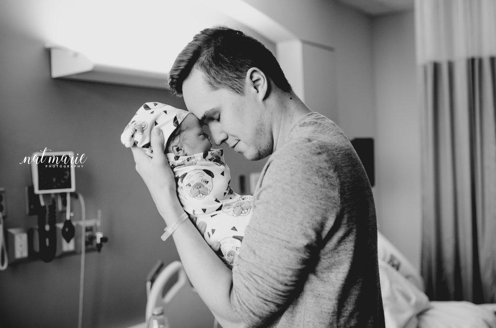 Gilbert, AZ Hospital Fresh 48 Newborn Newborn Session - Light & Airy Photography