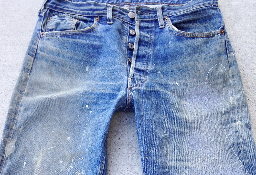 Perfectly worn and loved Levi's ready for a lifetime of more action after repair!