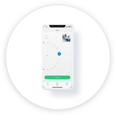 ACTIVATE APP  The app allows the teacher to connect to each pod and the whole class to instruct, monitor and enable student sharing. It also records video synced with high-quality audio from the teacher microphones and pods. Teachers can capture critical teaching and learning moments.