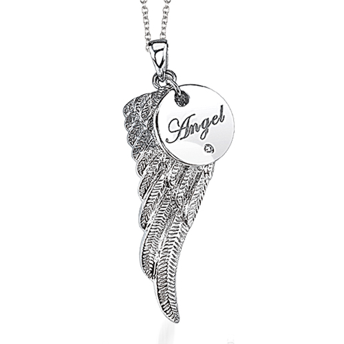 pin birthday angel jewelry silver folded gifts for pendant sterling wings gift women christian necklace wing