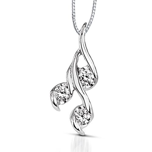 Sirena gold and three diamond pendant harry ritchies sirena gold and three diamond pendant aloadofball Choice Image