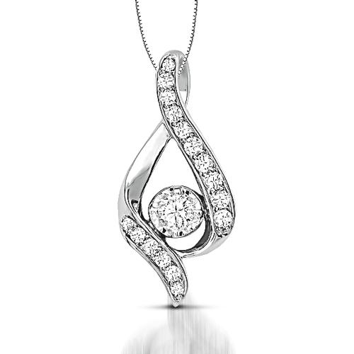 Sirena diamond ribbon pendant harry ritchies sirena diamond ribbon pendant aloadofball Choice Image