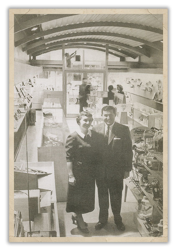 Jerry & Harry in the very first store, downtown Eugene in 1956.