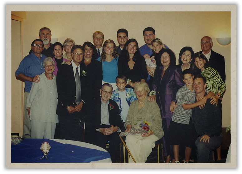 The Ritchie's gathered for Harry & Jerry's 60th Wedding Anniversary