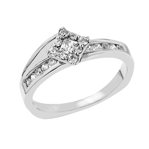 ad40d91ed19bfd Love Story Promise Princess Cut Engagement Ring — Harry Ritchie's