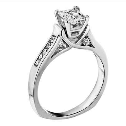 0745e46662a743 Love Story Princess Cut Diamond Engagement Ring — Harry Ritchie's