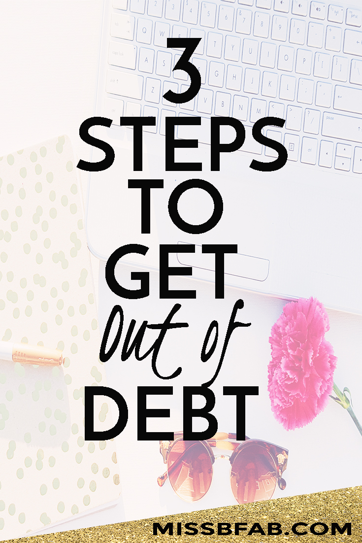 It is time to get yourself out of debt. Here are 3 steps you can use to start the journey. You need more money to do the things you want in life. Winning the lotto is not an option for most people. Learn how you can pay off debt with money you already have! Also  Take the free email course to start making a budget you can stick with bit.ly/bossinbudget