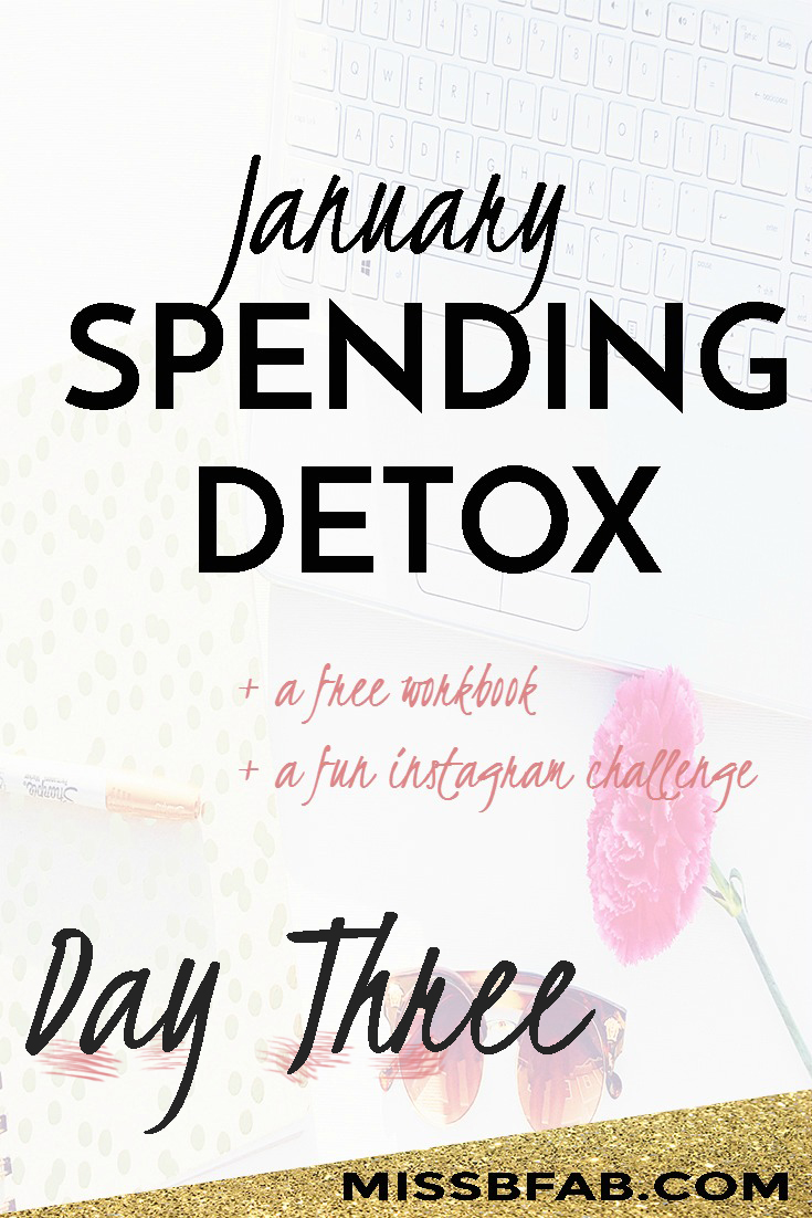 Day 3 of the spending detox was all about treasuring what's left behind. Sometimes we think new is the end all be all. What about things you can repurpose to make them like new again. Getting content with the things you already have will save you a lot of money in the long run. Sign up and learn more about joining the detox at bit.ly/fabspendcut