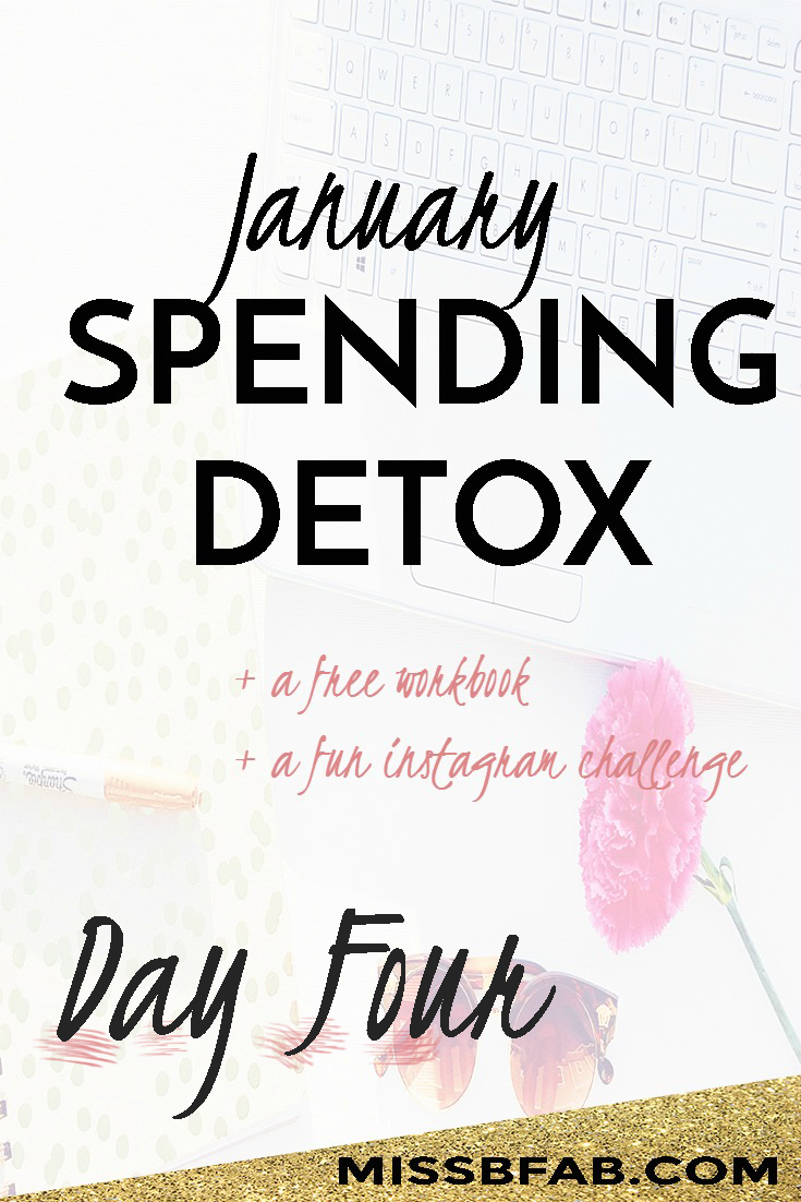 Day four of the spending detox is all about reflecting on your life as a whole. Make sure you click the link bit.ly/fabspendcut to learn more about the spending detox.
