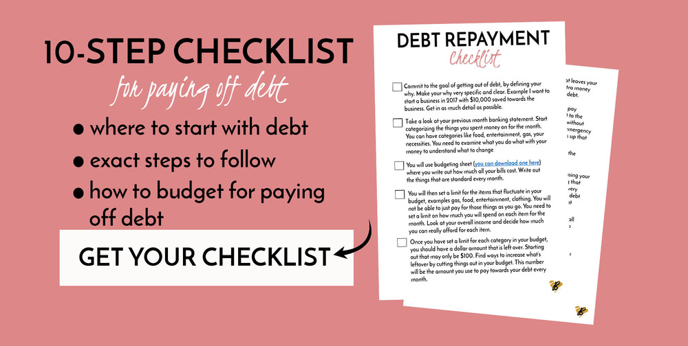 Paying off $40k in debt is no easy feat. I want to share with you 3 things I did (that you can do) to starting paying off your debt. You need to make a plan for your money, and here are 3 ways to start today. Also get access to the 10-step debt repayment checklist by clicking this link http://bit.ly/1OJK3al