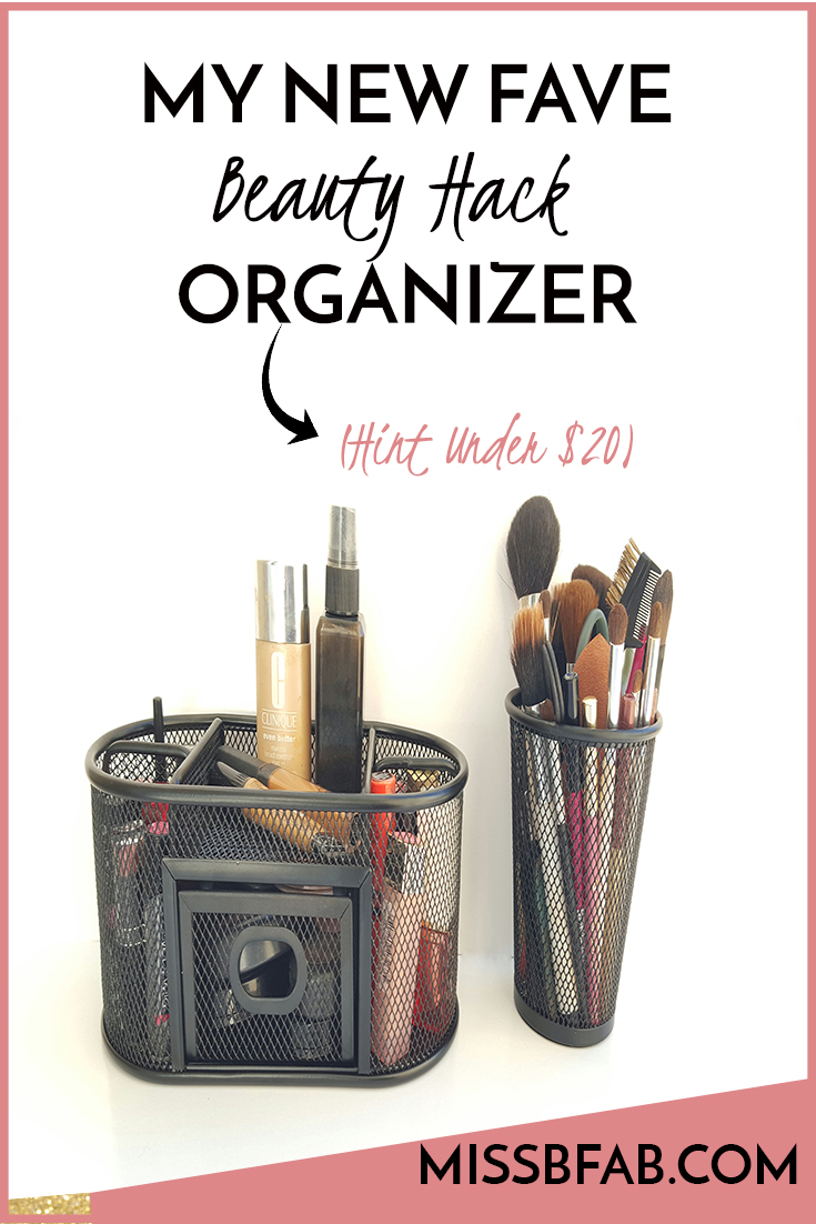 Check out this simple beauty hack organizers I put together for under $20 bucks!