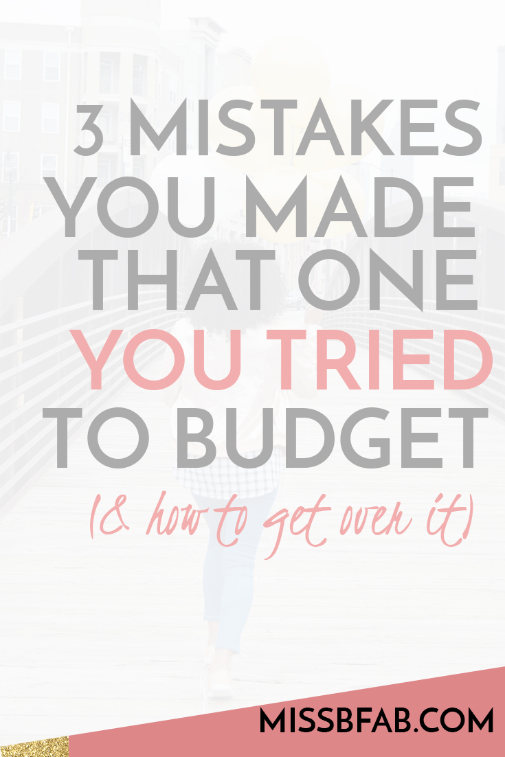 What happened to your budget? We often times sit down to budget, we start for a week and by the end of the week we are back at our old habits. Learn how to give over those 3 things to keep you from sticking to a budget