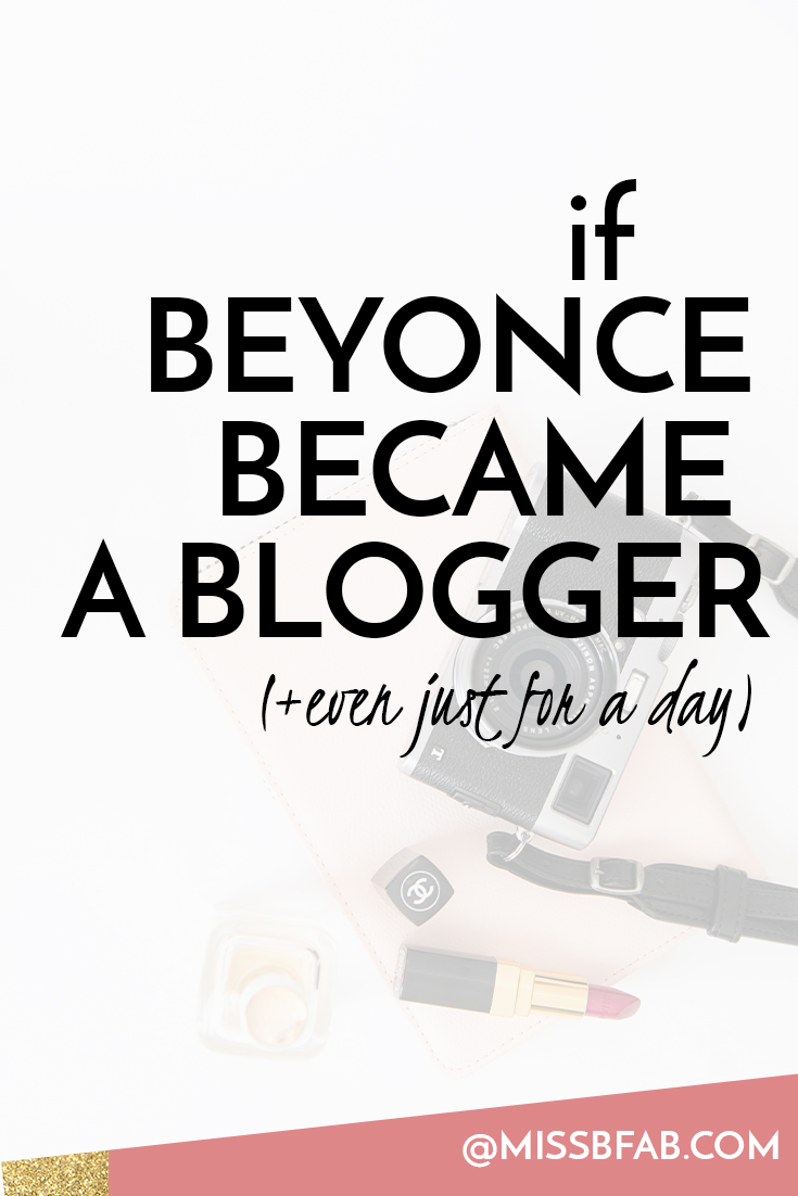 Paying homage to the work ethic Beyonce puts into her career. What is Beyonce was a blogger. We would expect consistent, epic blog post. Just taking a moment to think how would Beyonce a blog. Something to think about as we craft away on our love projects.