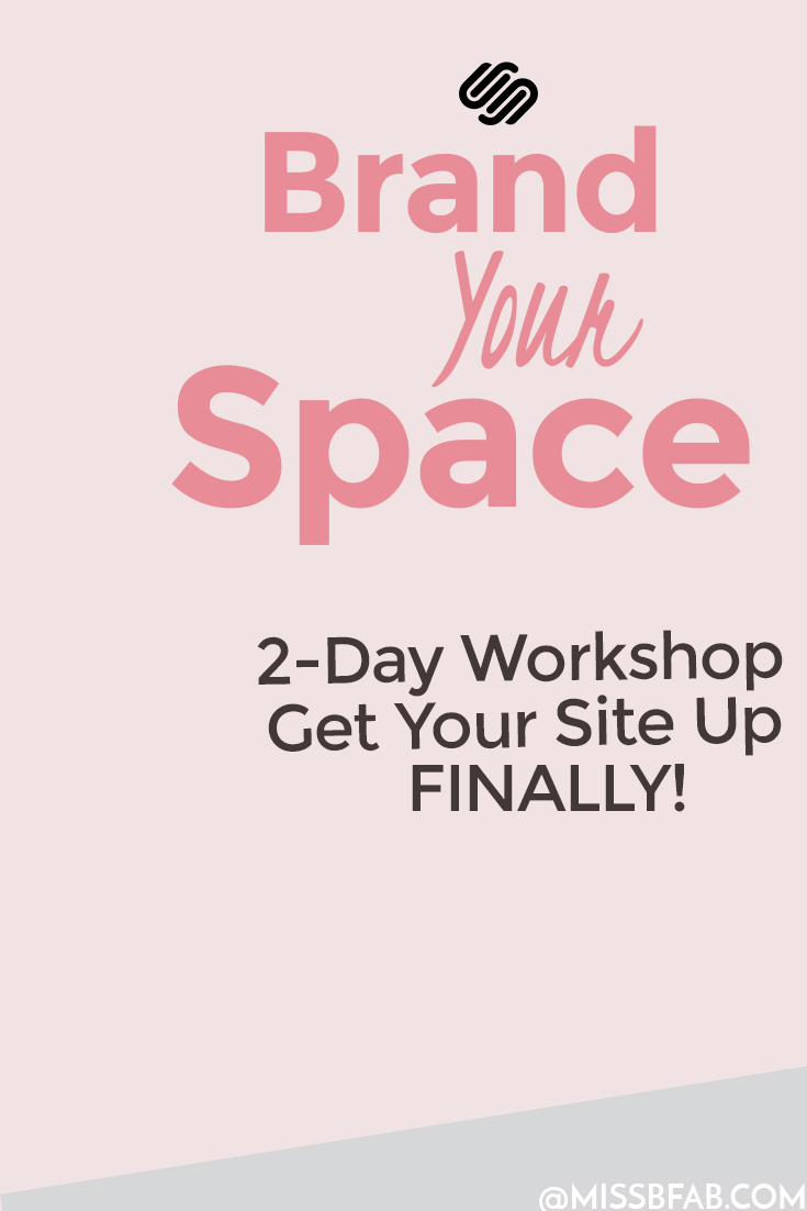Brand Your Space 2-Day Workshop- This workshop is for entrepreneurs, creative business owners, and online course creators who want to build a visually, converting, website on squarespace. The workshop will show you how to build graphics that pop, and the language to appeal to your idea audience on each blog post. You don't want to miss this. Click to learn more about the workshop!