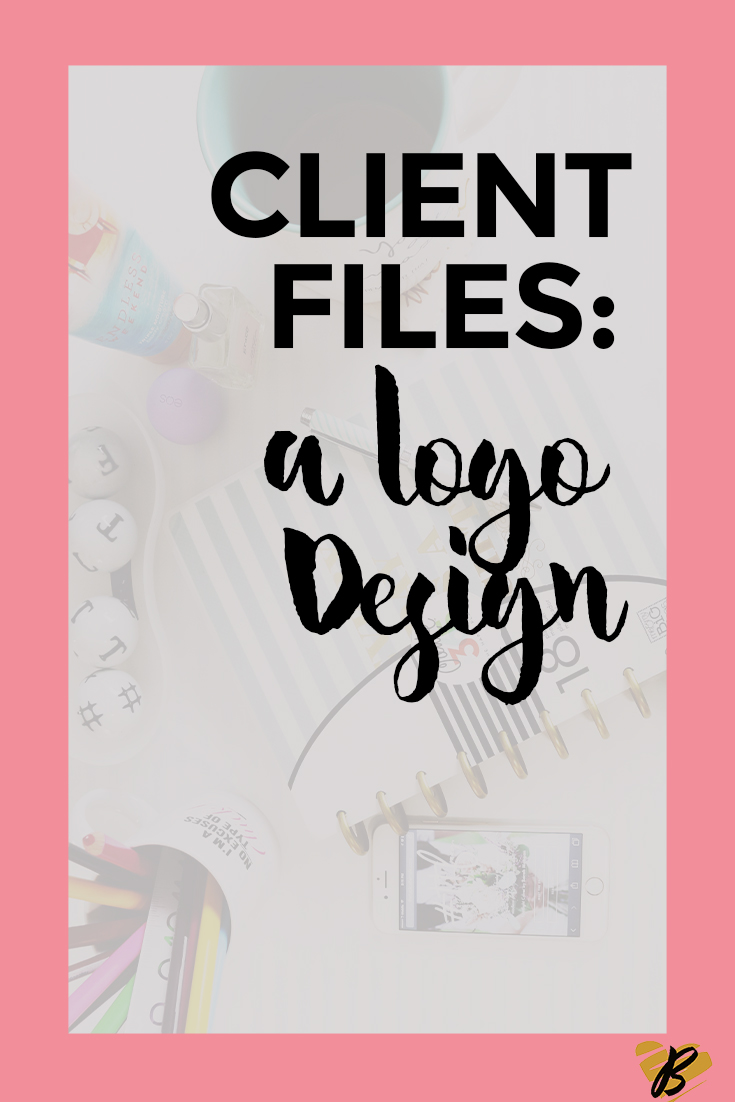 Client Files: A Logo Design- The post is to peel back the layers for bloggers, creatives, and entrepreneurs to see the process behind creating a custom logo. Read through to see which logo we decided on!