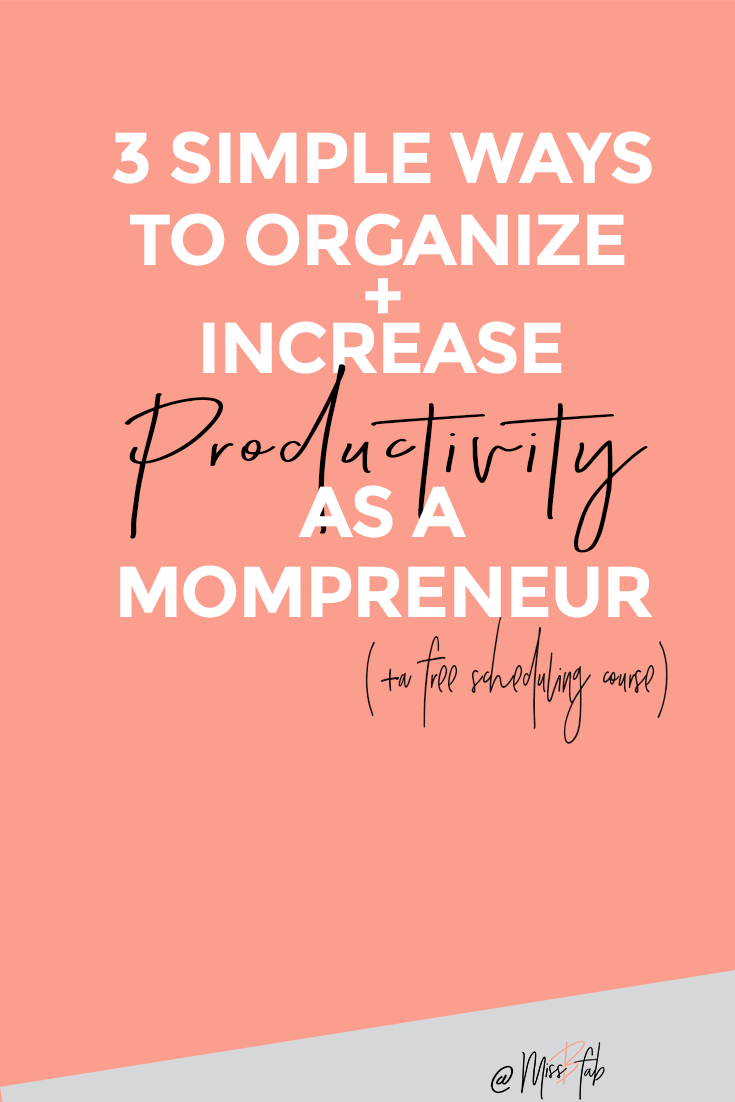 3 Simple Ways To Organize + Increase Productivity As A Mompreneur- This is for mothers trying to balance career, kids, home, and wife. As creative moms you still have to meet your home demands. Click through to get a plan and start tackling your to do list with clarity!