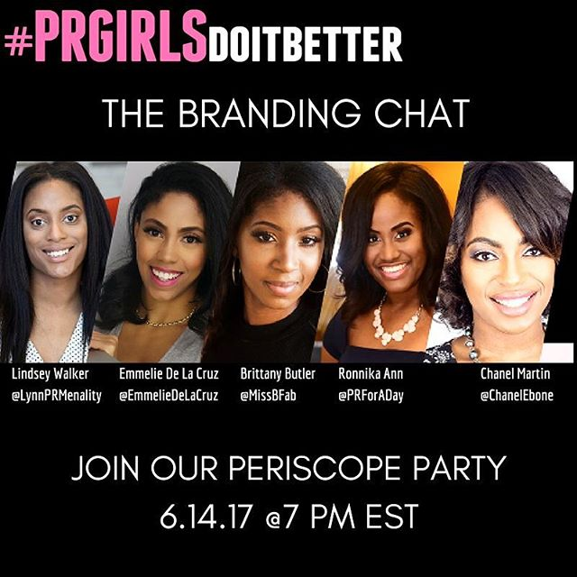 "We are going live!!! Join us tomorrow starting at 7 PM EST as we chat about ""branding"" a serious buzz word! But we won't to give you our take and answer all your questions!"