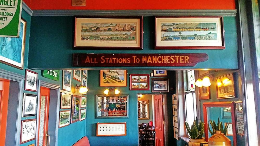 Railway memorabilia at The Stalybridge Buffet Bar