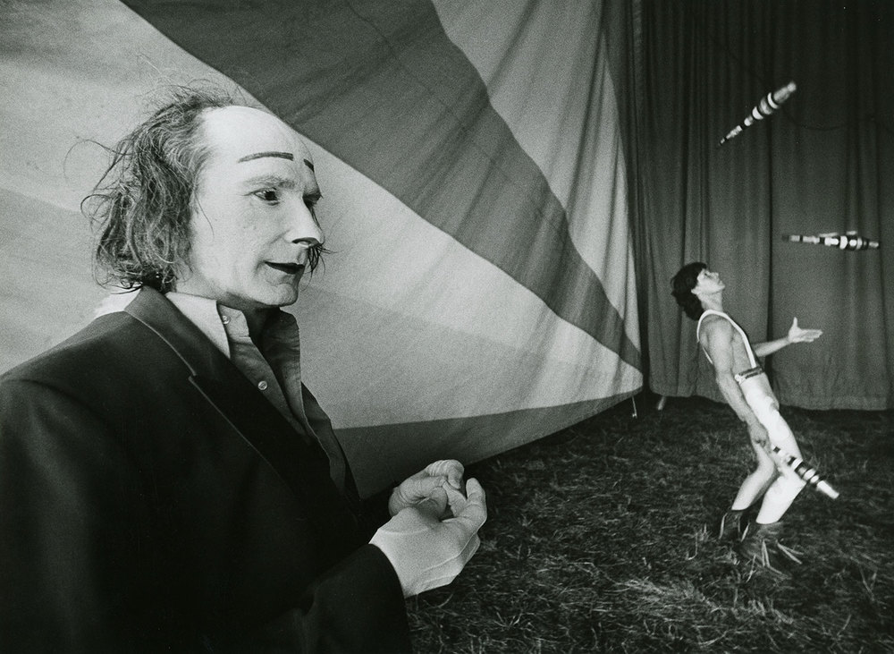Circus clown and juggler