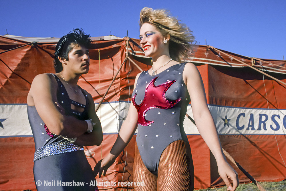 Circus performers for the Carson & Barnes Circus