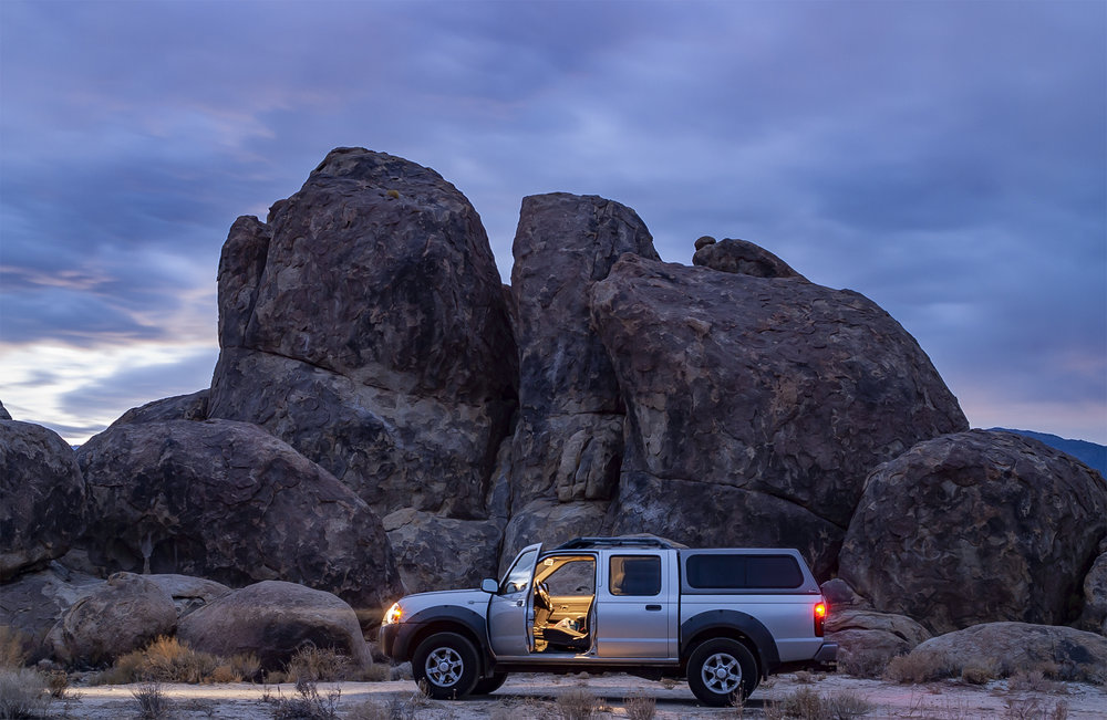 2001 Nissan Frontier Crew Cab in the Alabama Hills, California