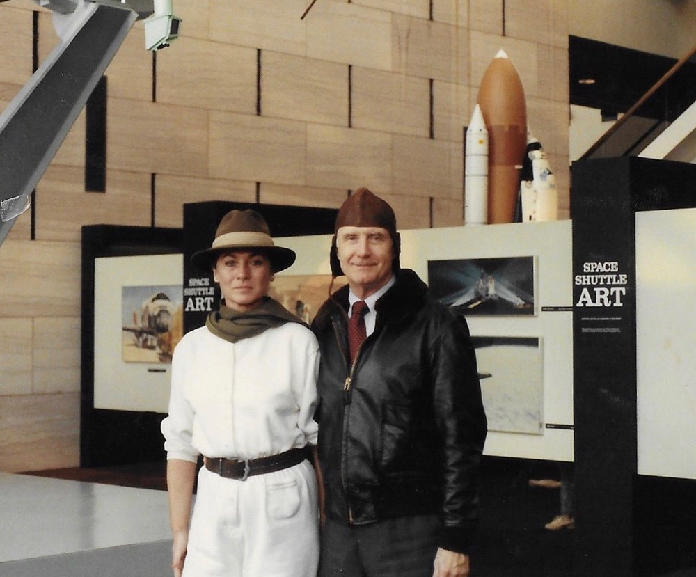 Air and Space Museum 1987 - Sara Larkin with General Thomas P. Stafford